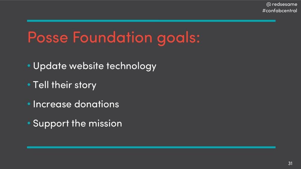 @ redsesame #confabcentral 31 Posse Foundation ...