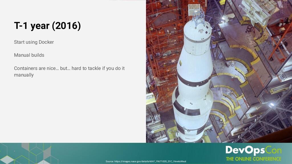 T-1 year (2016) Start using Docker Manual build...