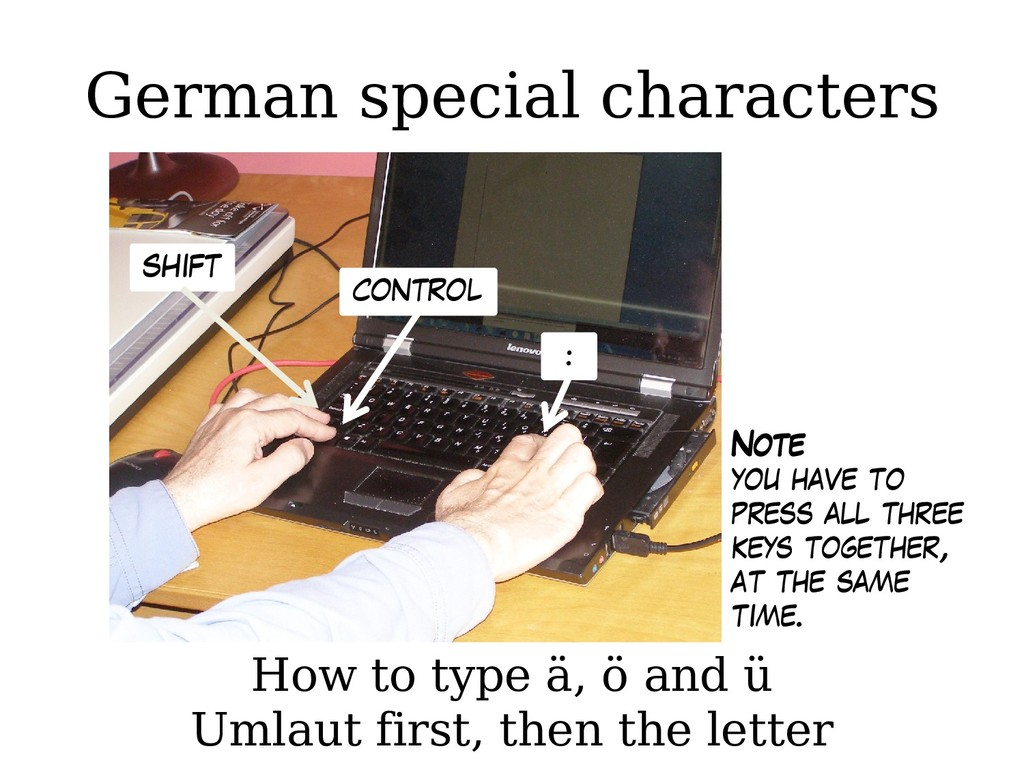 German special characters How to type ä, ö and ...