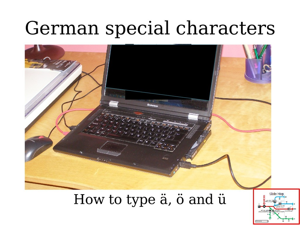 German special characters How to type ä, ö and ü