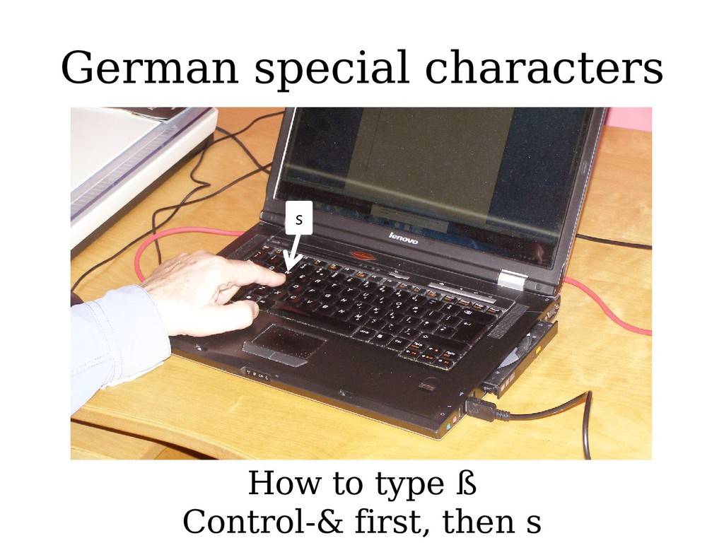 German special characters How to type ß Control...