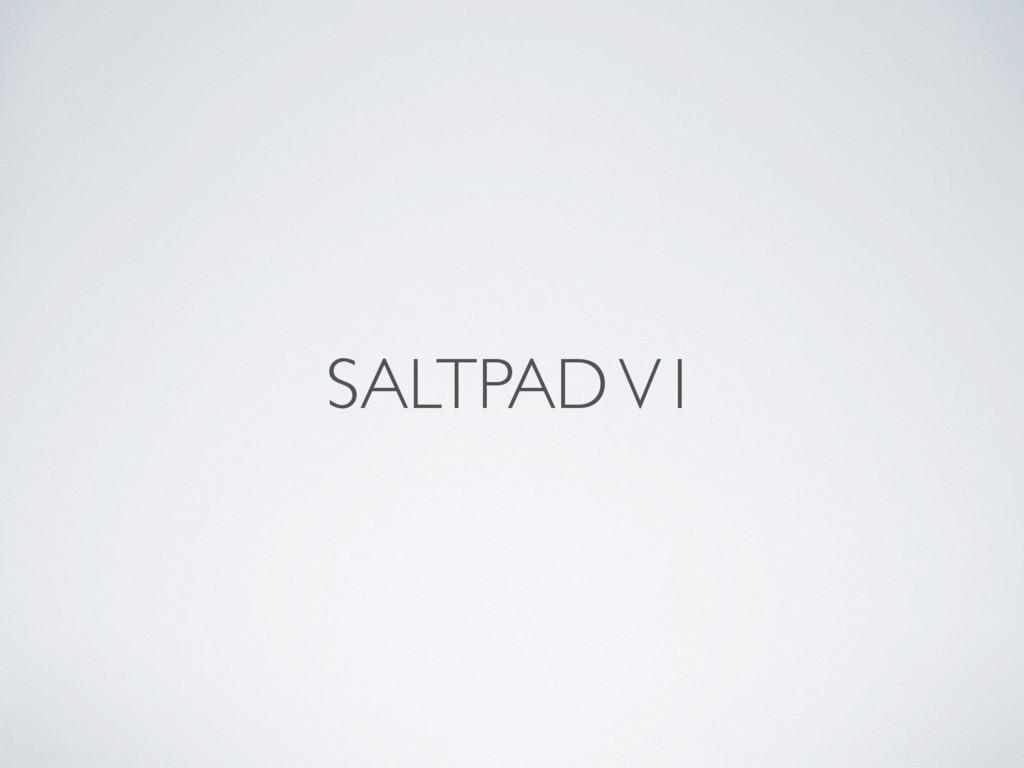SALTPAD V1