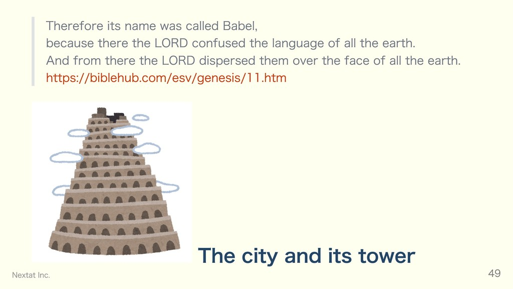 Therefore its name was called Babel, because th...
