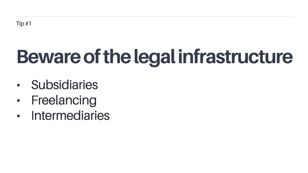 • Subsidiaries • Freelancing • Intermediaries T...
