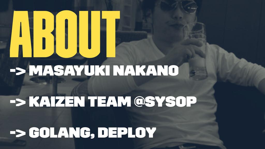 about -> Masayuki Nakano -> Kaizen team @Sysop ...