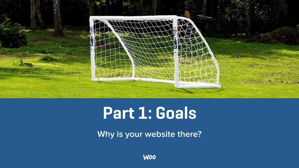 Part 1: Goals Why is your website there?