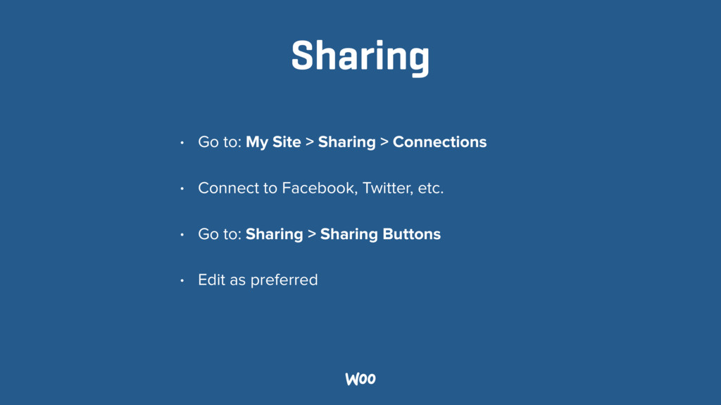 Sharing • Go to: My Site > Sharing > Connection...