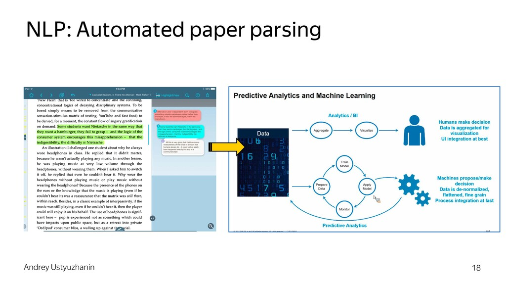 NLP: Automated paper parsing Andrey Ustyuzhanin...