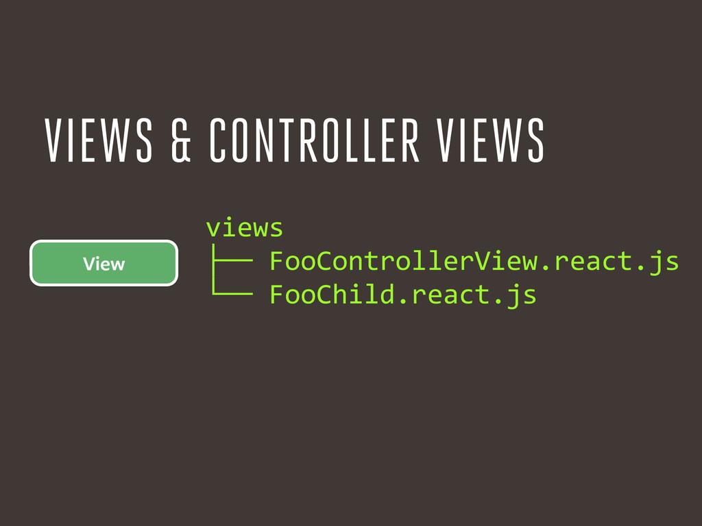 View views  ├── FooControllerView.react.j...