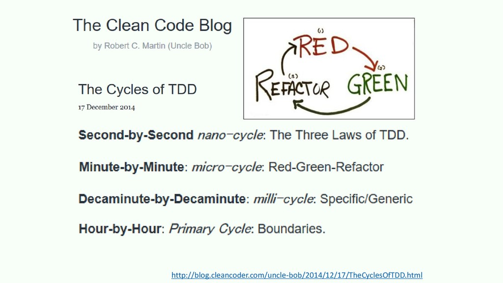 http://blog.cleancoder.com/uncle-bob/2014/12/17...