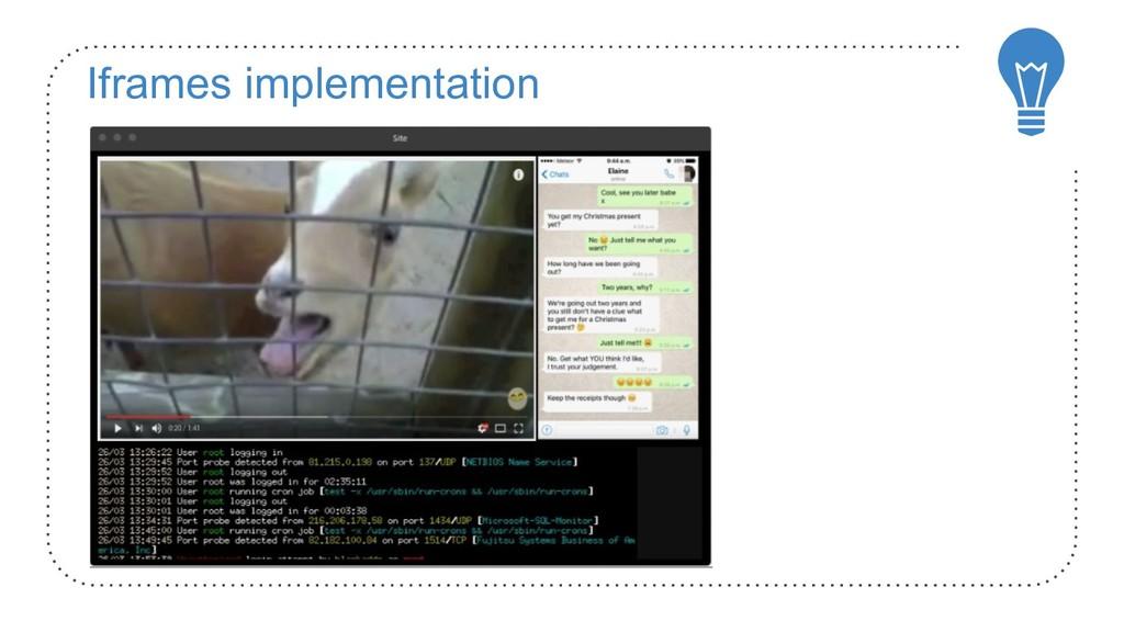 Iframes implementation