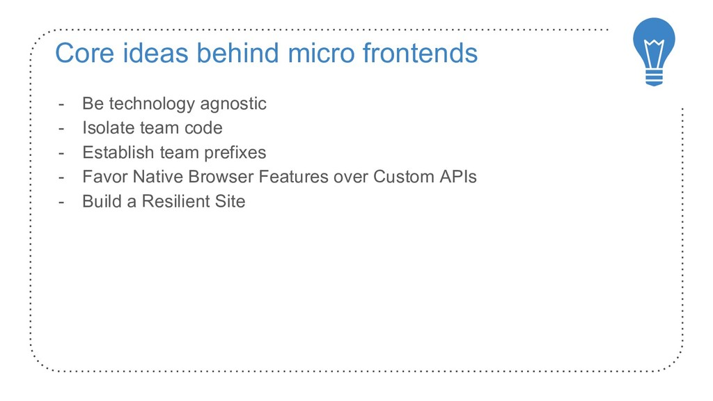 Core ideas behind micro frontends - Be technolo...