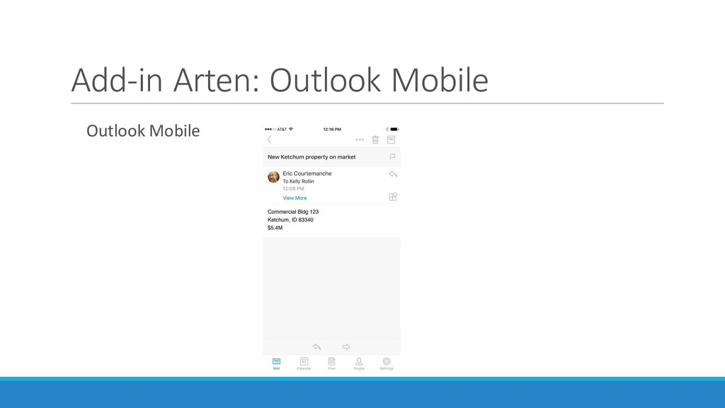 Add-in Arten: Outlook Mobile Outlook Mobile