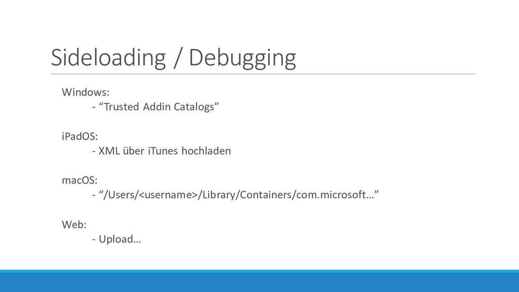 "Sideloading / Debugging Windows: - ""Trusted Add..."