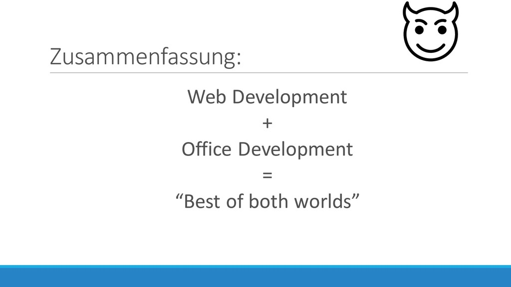 Zusammenfassung: Web Development + Office Devel...