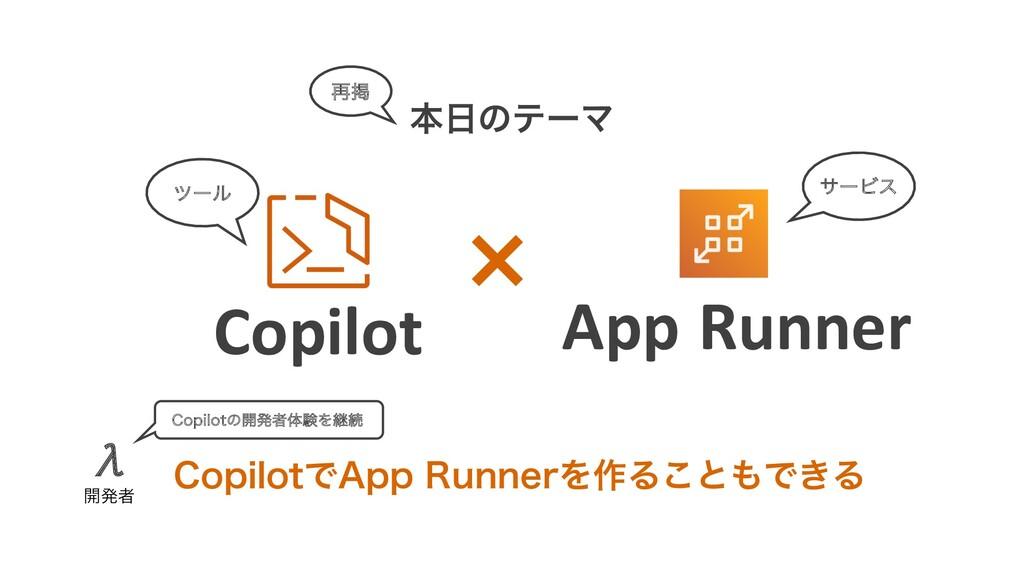 """App Runner Copilot ຊͷςʔϚ ࠶ܝ πʔϧ $PQJMPUͰ""""QQ3V..."""