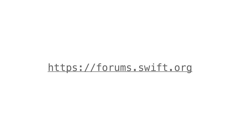 https://forums.swift.org