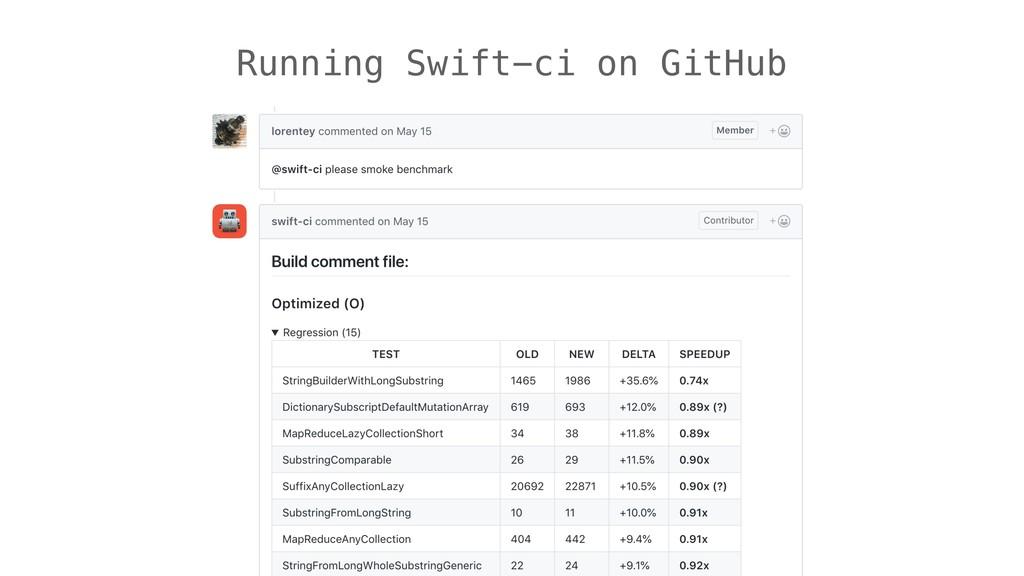 Running Swift-ci on GitHub