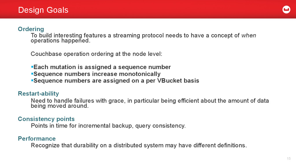 Ordering To build interesting features a stream...