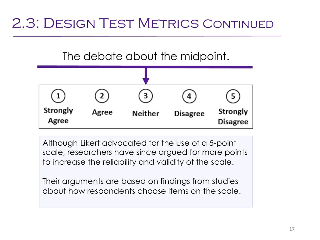 The debate about the midpoint. 17 Although Like...