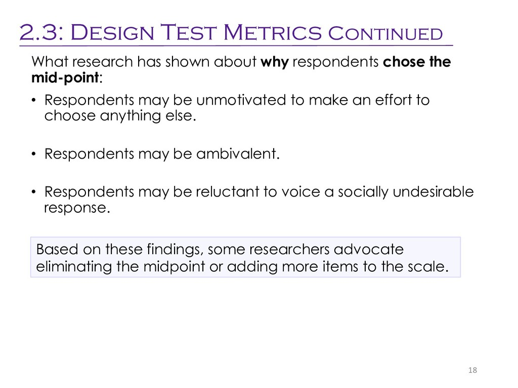 What research has shown about why respondents c...