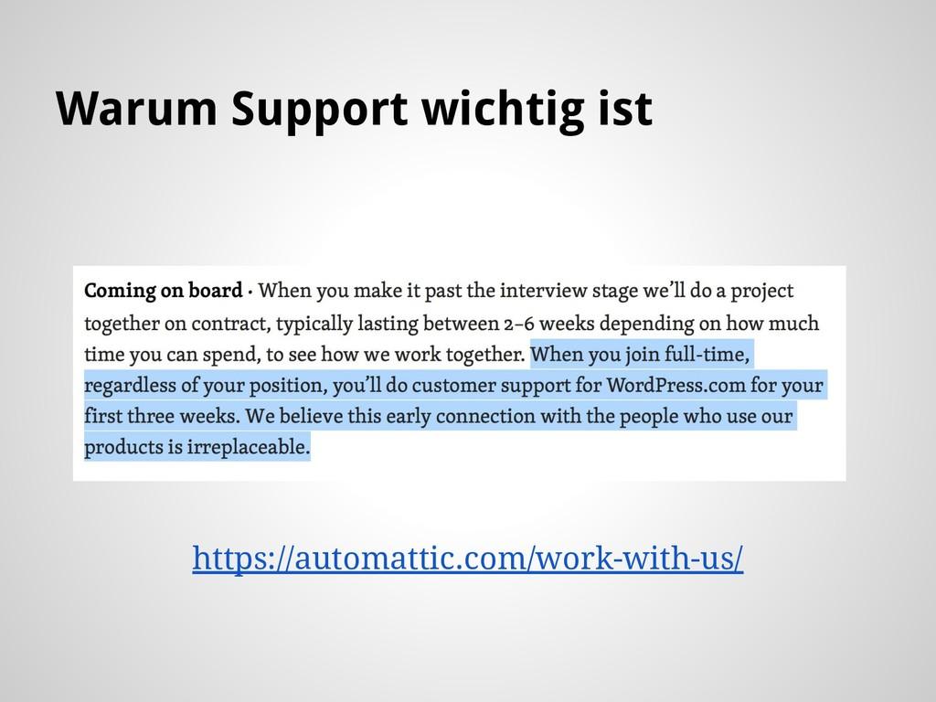 Warum Support wichtig ist https://automattic.co...
