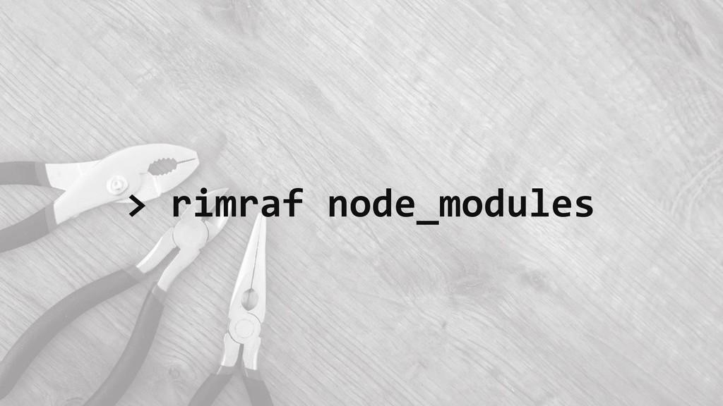 > rimraf node_modules