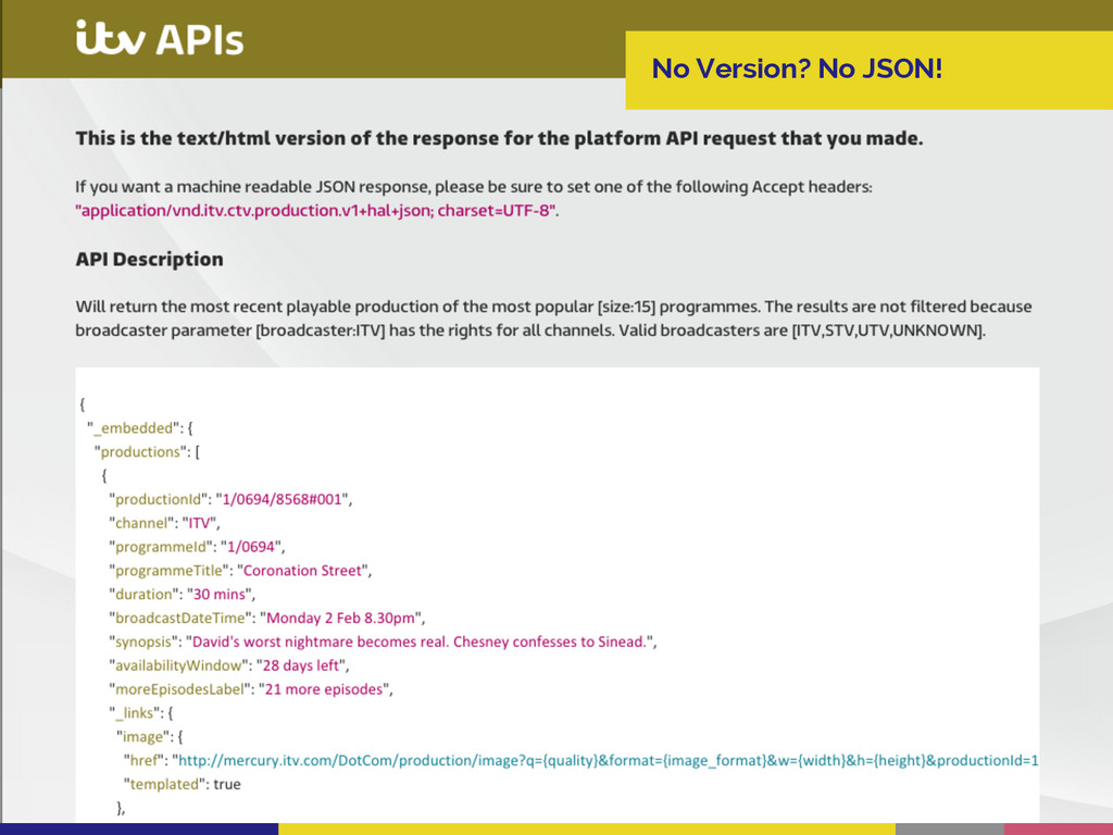 No Version? No JSON!