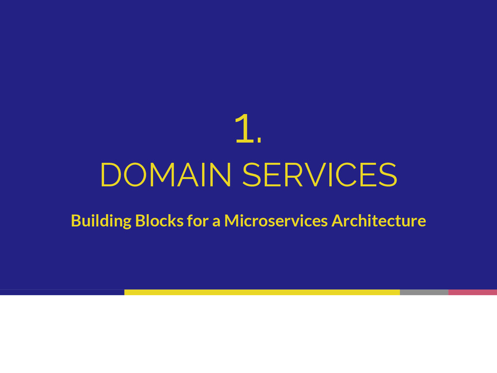 1. DOMAIN SERVICES Building Blocks for a Micros...