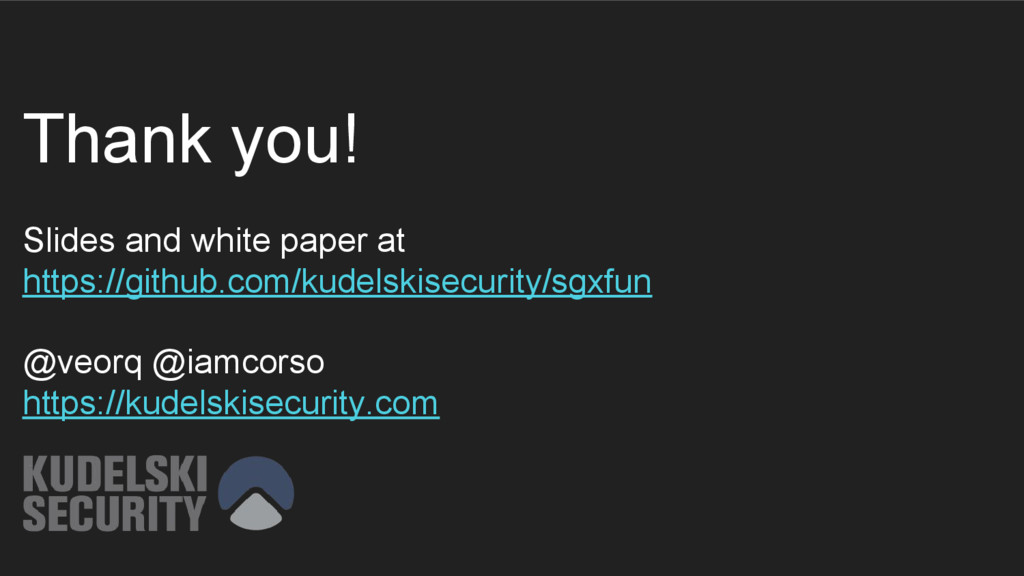 Thank you! Slides and white paper at https://gi...