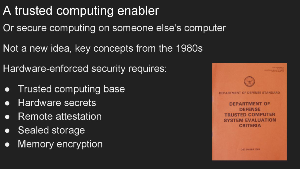 A trusted computing enabler Or secure computing...