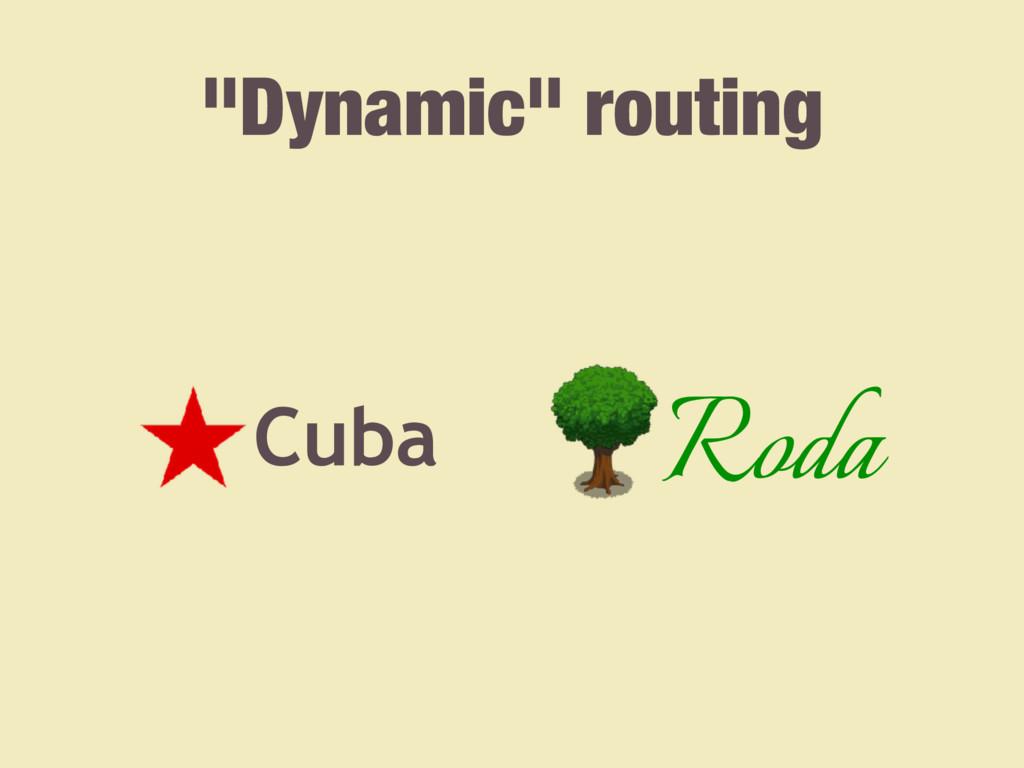 """Dynamic"" routing Cuba Roda"