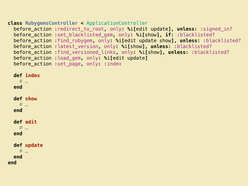 class RubygemsController < ApplicationControlle...