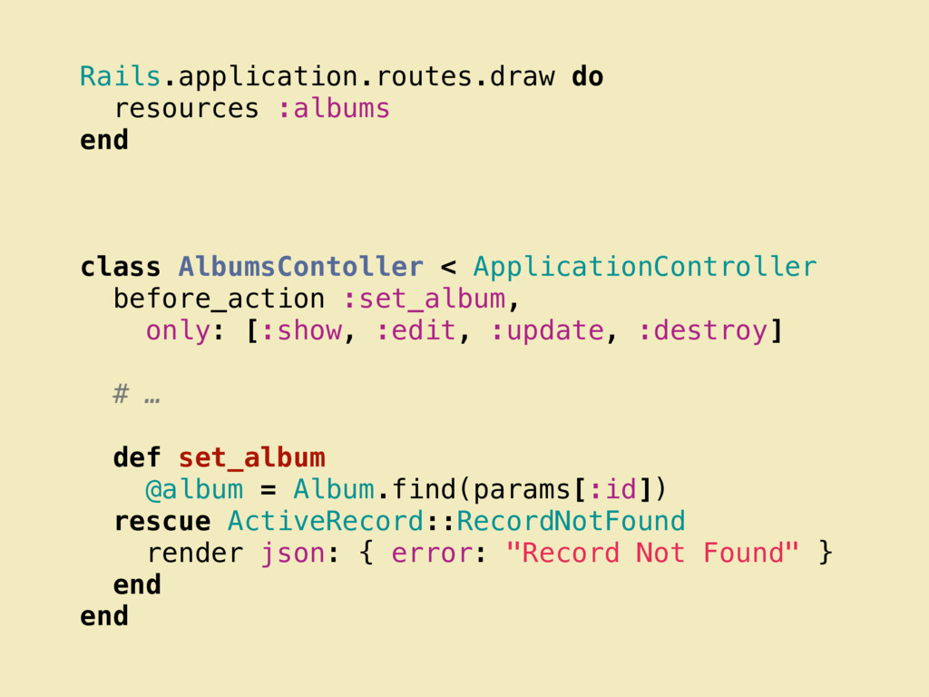 Rails.application.routes.draw do resources :alb...
