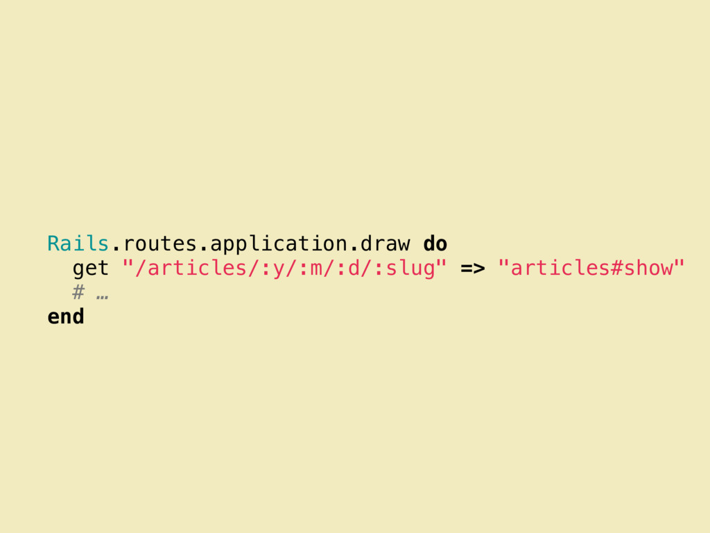 "Rails.routes.application.draw do get ""/articles..."