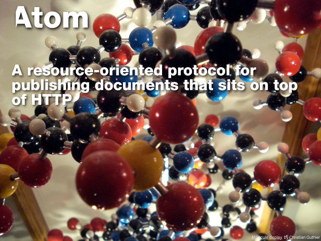 Atom A resource-oriented protocol for publishin...