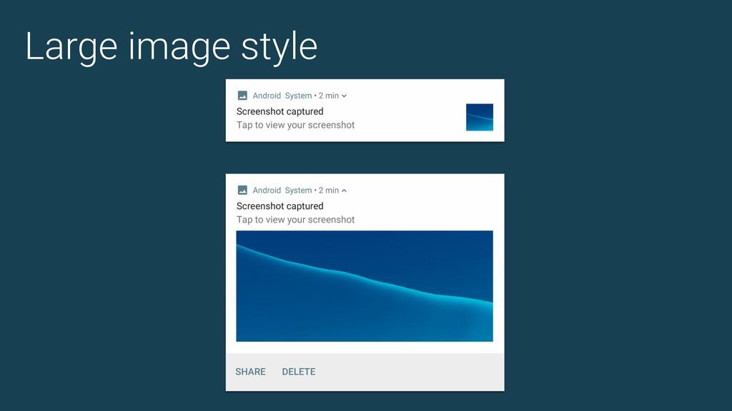 Large image style