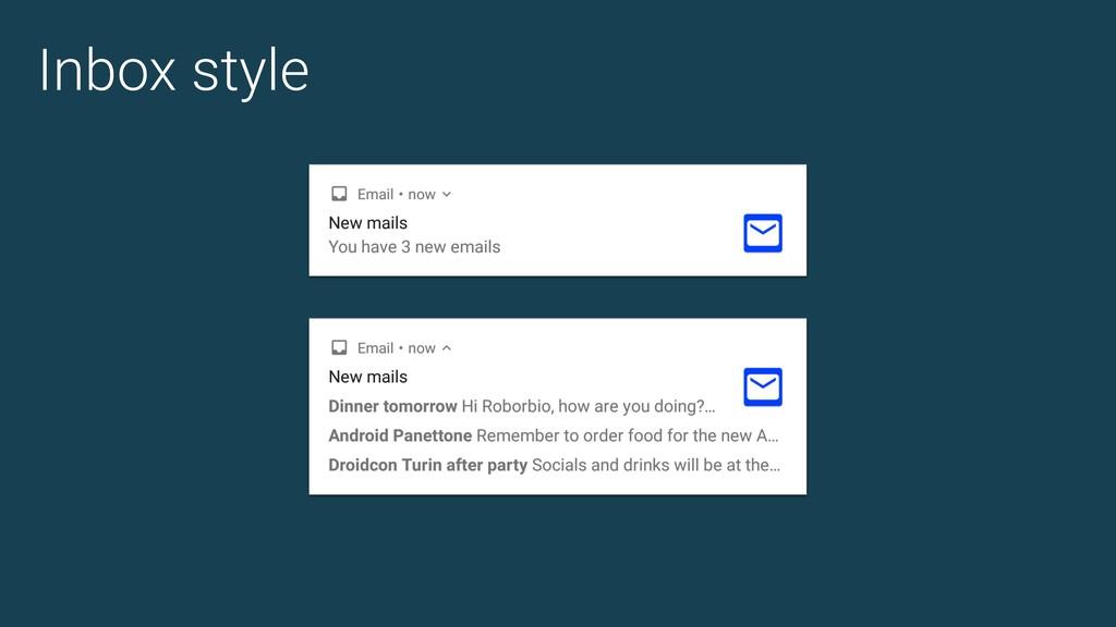 Inbox style