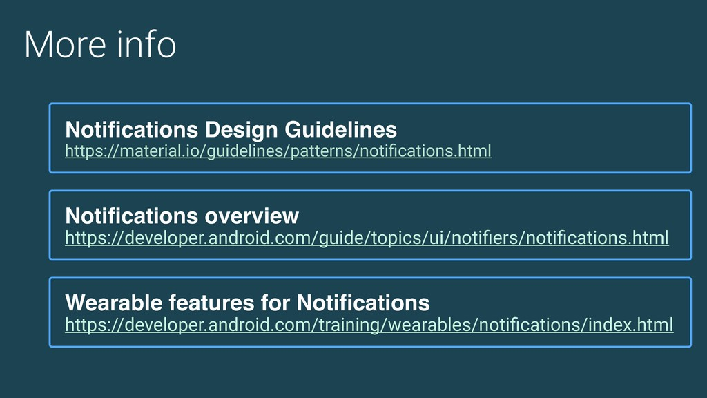 More info Wearable features for Notifications h...