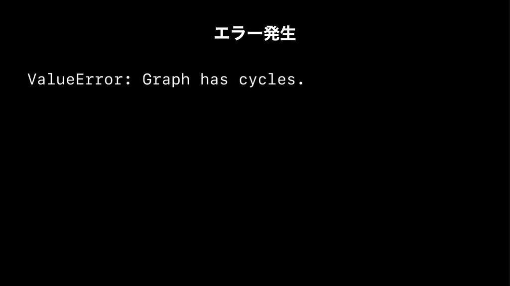Τϥʔൃੜ ValueError: Graph has cycles.