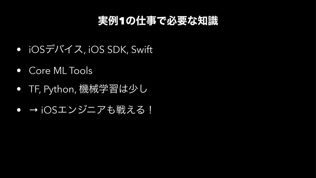 ࣮ྫ1ͷͰඞཁͳࣝ • iOSσόΠε, iOS SDK, Swift • Core M...