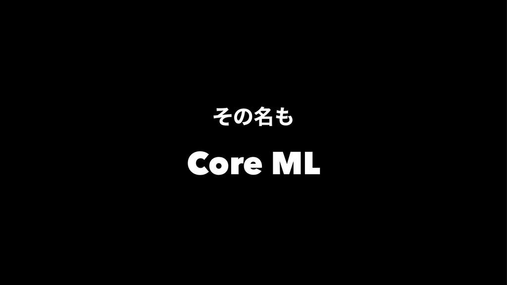 ͦͷ໊ Core ML