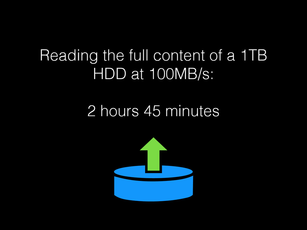 Reading the full content of a 1TB HDD at 100MB/...