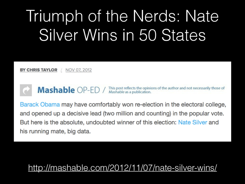 Triumph of the Nerds: Nate Silver Wins in 50 St...