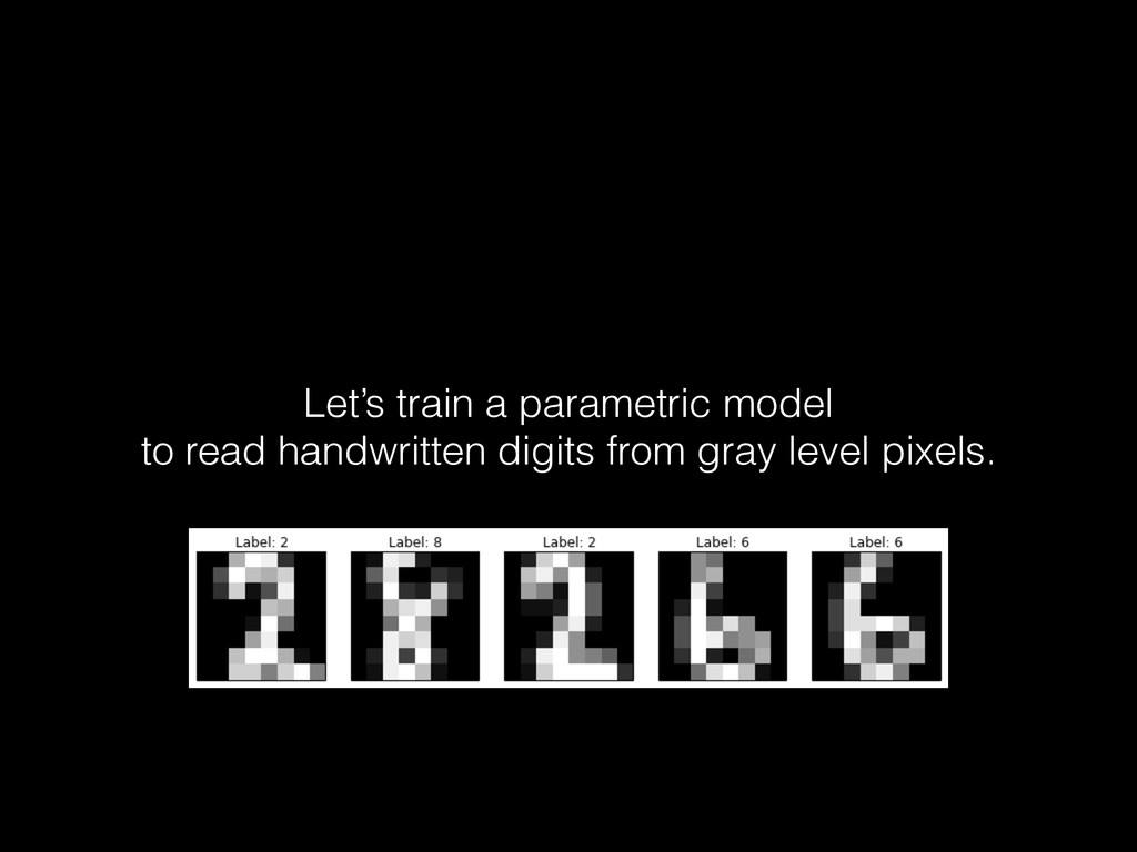 Let's train a parametric model to read handwrit...