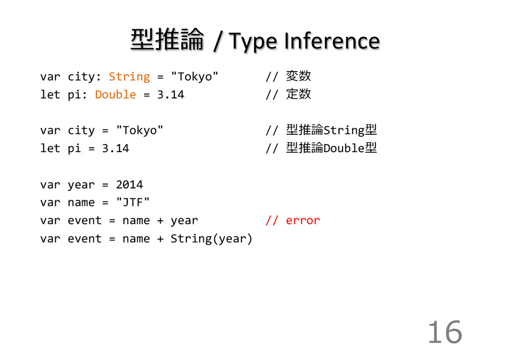 型推論論  /	