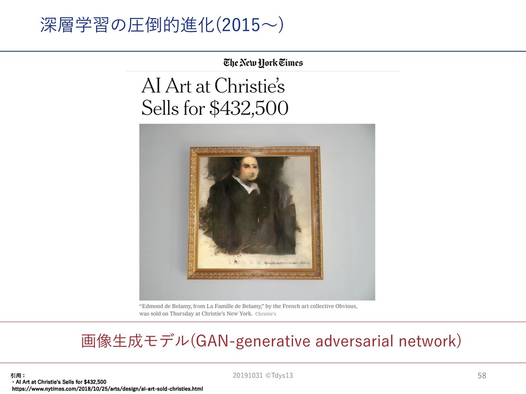 画像⽣成モデル(GAN-generative adversarial network) 深層学...