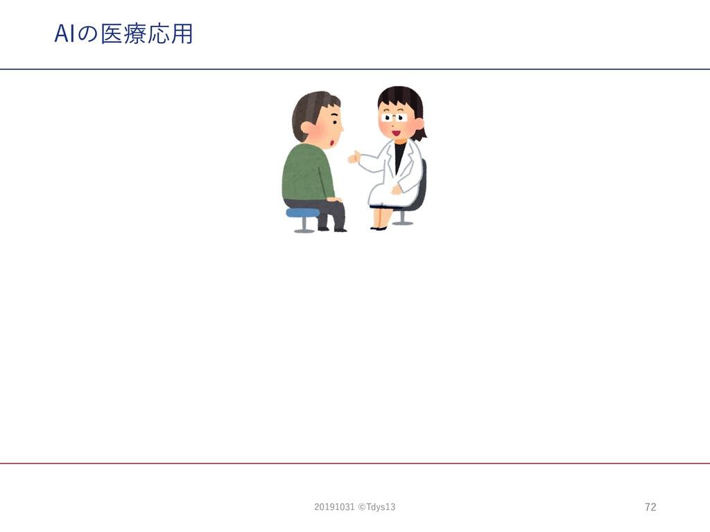 AIの医療応⽤ 72 20191031 ©Tdys13