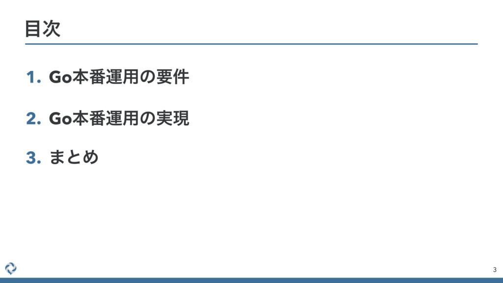 1. Goຊ൪ӡ༻ͷཁ݅ 2. Goຊ൪ӡ༻ͷ࣮ݱ 3. ·ͱΊ 3 
