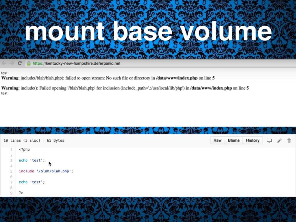 mount base volume